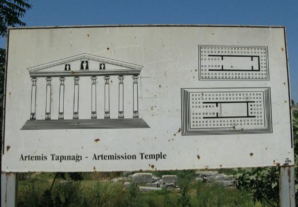 План Храма Артемиды в Эфесе
