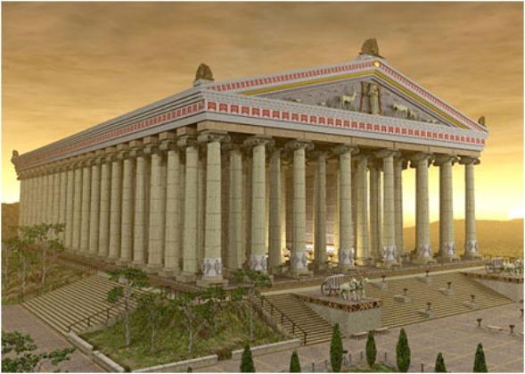 Внешний вид Храма Артемиды