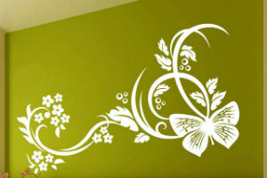 Декорирование стен трафаретами