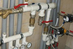 Составные водопровода внутри